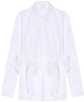 DELPOZO Long Sleeve Bow Shirt