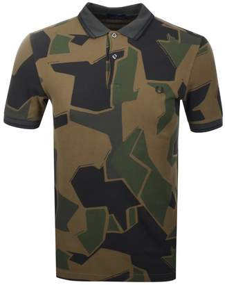 Fred Perry Arktis Camouflage Polo T Shirt Grey