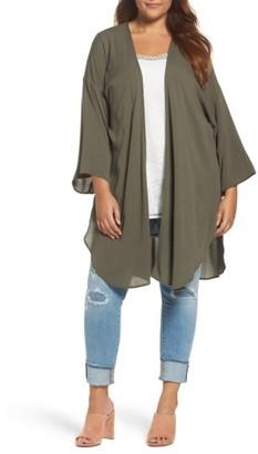 Plus Size Women's Bobeau Washed Kimono $59 thestylecure.com