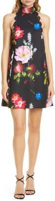 Ted Baker Tanii Floral Scallop Shift Dress