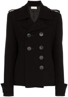 Wales Bonner double-breasted short wool blend peacoat