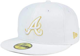 New Era Atlanta Braves White On Metallic 59FIFTY Cap