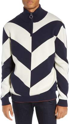 Scotch & Soda Alpine Colorblock Quarter Zip Pullover