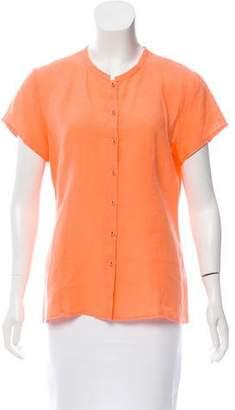 Eileen Fisher Short Sleeve Linen Top