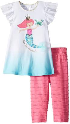 Mud Pie Mermaid Tunic and Capris Two-Piece Set Girl's Suits Sets