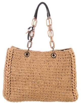 Lanvin Woven Straw Shoulder Bag