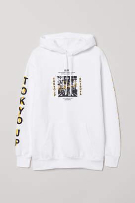 H&M Hooded Sweatshirt - White