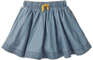 Boden Mini Girls' Skater Skirt, Light Blue