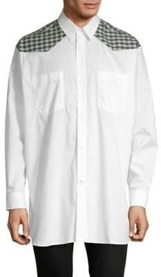 Raf Simons Fred Perry x Plaid Button-Down Shirt