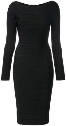 Herve Leger fitted midi dress