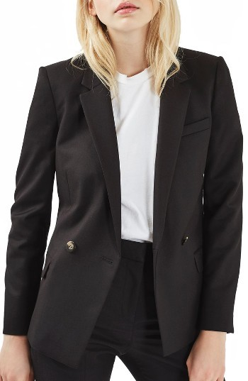 Topshop Women's Topshop Double Breasted Suit Jacket
