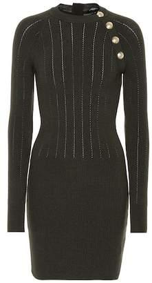 Balmain Wool-blend minidress