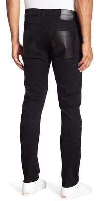 Daniel Won Leather Pocket Slim Fit Jeans