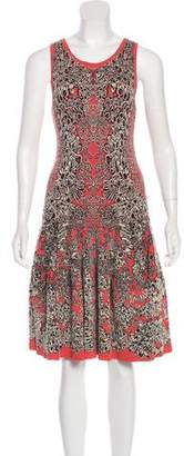 Alexander McQueen Intarsia Knee-Length Dress