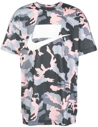 Nike camouflage print mesh T-shirt