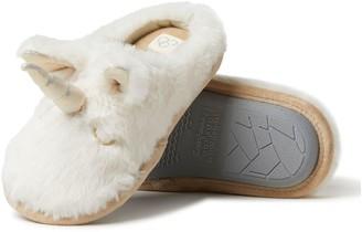 Dearfoams Kid's & Toddler's Furry Critter Animal Clog Slippers