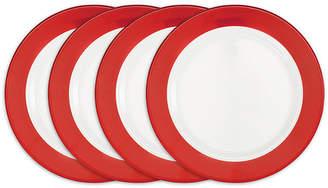 Q Squared Bistro Red Melamine 4-Pc. Dinner Plate Set