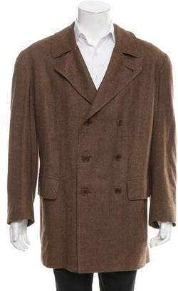 Kiton Double-Breasted Cashmere Coat