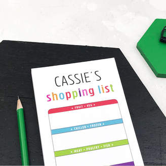 XOXO Personalised Colourful Shopping List Notepad