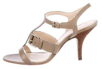 Givenchy Leather T-Strap Sandals