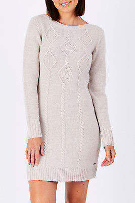 Hatley NEW Womens Knee Length Dresses Cable Knit Dress Oatmeal