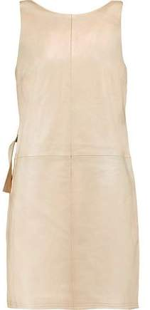 Marc By Marc Jacobs Wrap-Effect Leather Mini Dress