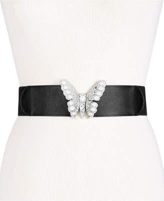 INC International Concepts I.n.c. Imitation Pearl & Rhinestone Butterfly Belt