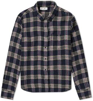 Saint Laurent Heavy Flannel Check Shirt