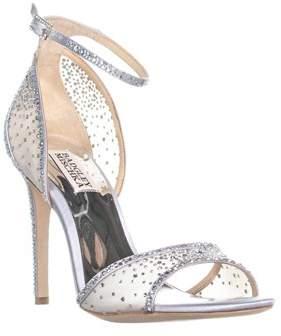 Badgley Mischka Shiraz Ankle Strap Evening Sandals, Silver