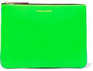 Comme des Garçons - Neon Leather Pouch - Bright blue $145 thestylecure.com