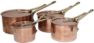 One Kings Lane Vintage English Lidded Copper Saucepans - Set of 4 - Rose Victoria