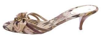 Missoni Bow Knit Slide Sandals