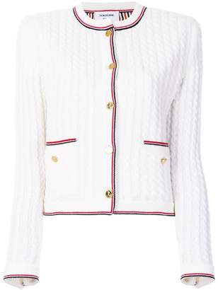 Thom Browne cable knit cardigan jacket