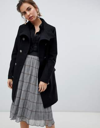 B.young military button wool coat