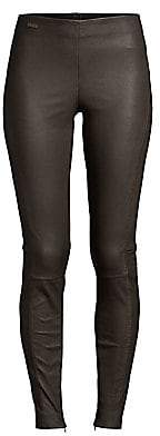 Polo Ralph Lauren Women's High-Rise Skinny Stretch Leather Pants