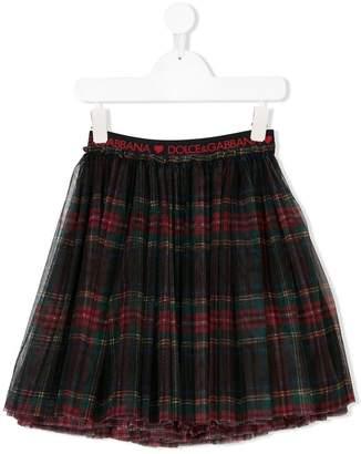Dolce & Gabbana tartan tulle skirt