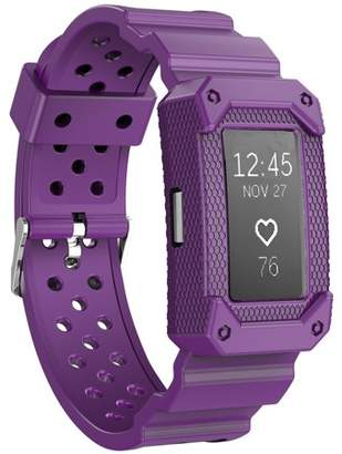 Fitbit Moretek Charge 2 Band, Rugged Protective Wristband Case with Strap for Charge 2(Purple)