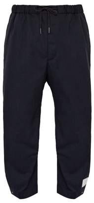 Thom Browne Drawstring Waist Adjustable Cuff Trousers - Mens - Navy
