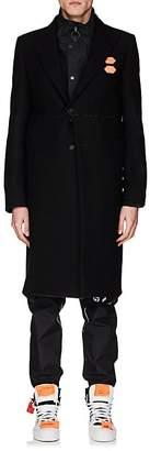 Off-White Men's Wool-Blend Flannel Overcoat