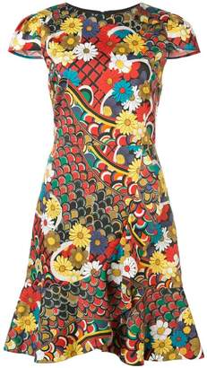 Alice + Olivia Alice+Olivia Kirby floral print dress