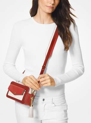 bde53172a MICHAEL Michael Kors Small Tri-Color Leather Camera Bag