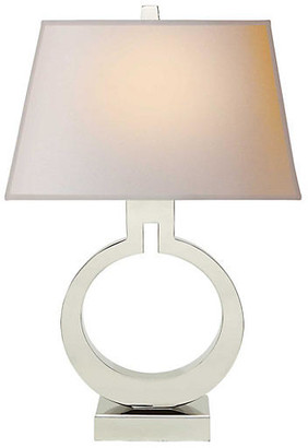 Visual Comfort & Co. Large Ring Table Lamp - Polished Nickel