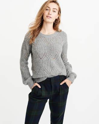 Abercrombie & Fitch Lofty Puff Sleeve Crew Sweater