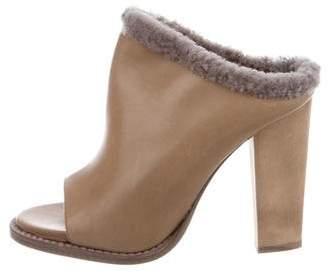 Brunello Cucinelli Leather Slide Sandals w/ Tags