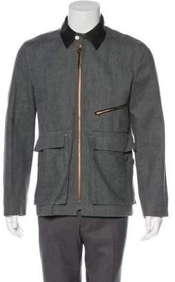 Billy Reid Zip Accented Spread Collar Jacket