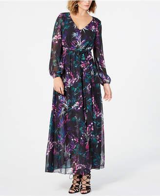Nine West Dark Floral Maxi Dress