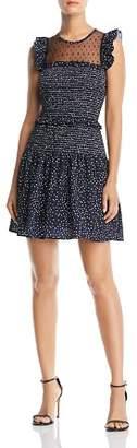 Aqua Sleeveless Smocked Dot-Print Dress - 100% Exclusive