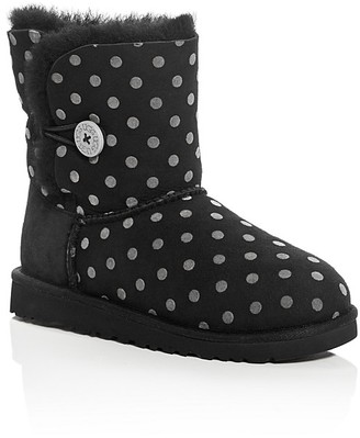 UGG® Girls' Bailey Button Polka Dot Boots - Little Kid, Big Kid $120 thestylecure.com