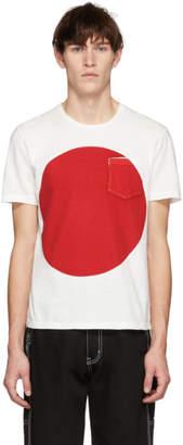 Blue Blue Japan SSENSE 限定 ホワイト & レッド ビッグ サークル T シャツ