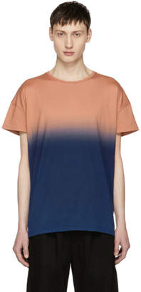 Diet Butcher Slim Skin Orange and Navy Gradation T-Shirt